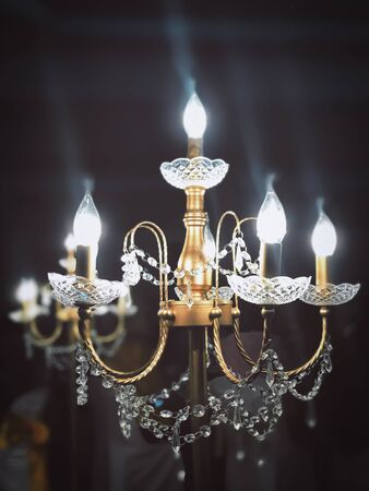 Beautiful chandelier for interior design decoration