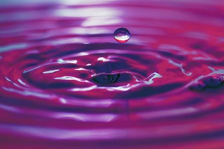 purple water drop photo