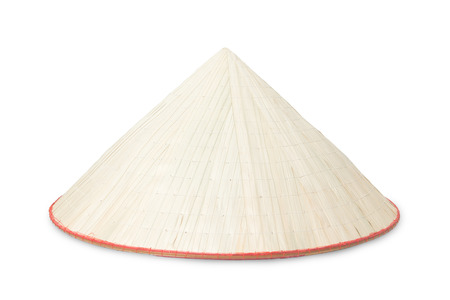 conical hat: traditional Vietnamese Hat on white background Stock Photo