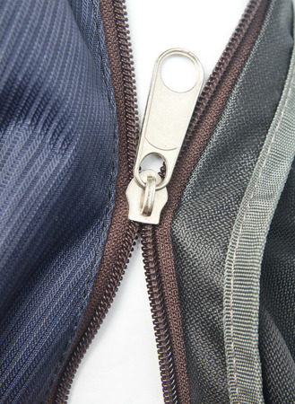 separating: broken zipper or separating zipper Stock Photo