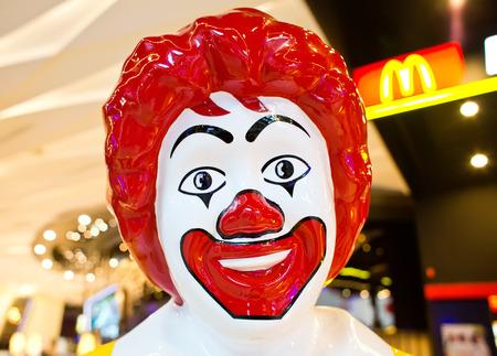 macdonald: BANGKOK, THAILAND - FEBRUARY 9 : Mascot of McDonalds Restaurant on February 9, 2015 in Bangkok, Thailand. It is the worlds largest chain of hamburger fast food restaurants.