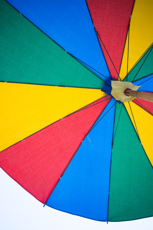 metal pettern: Texture of under Colorful umbrella