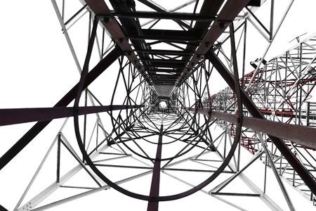 communication tower: Communication tower isolated on white background