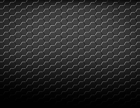 Abstract geometric hexagonal pattern background. dark black texture honeycomb design. 3d rendering
