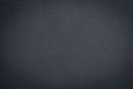 Close-up of Black gray leather texture. Surface of rough abstract dark black matte background. Design in your work backdrop, concept copy space for text. Stock Photo