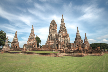 High dynamic range Temple Ayutthaya historical park.that famous temple.that major tourist attraction of Ayutthaya.