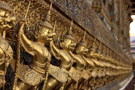 garuda: The row of golden Garuda