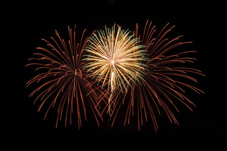panoply: colorful  of July fireworks thailand