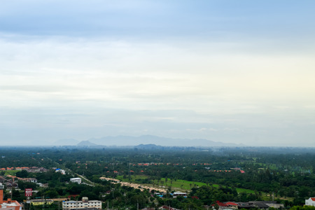 city scape in Thailand cloudy