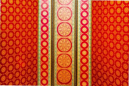 Beautiful Pattern at Thai temple Stock Photo