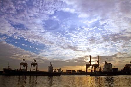 Thailand harborat sunrise Couldy