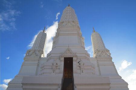 stupa of Wat mha tard Temple Stock Photo