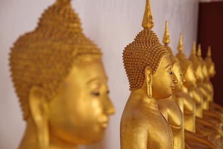Close up of a Buddha statue at Wat Yai su wanna larm ,phetchaburi