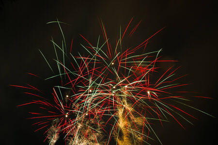 colorful  of July fireworks thailand