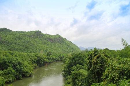 River Kwai in Kanchanaburi province in Thailand