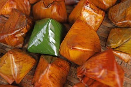 Stuffed Dough Pyramid Dessert In Chinese Festival Ceremony