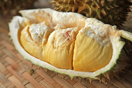 Close up of peeled durian