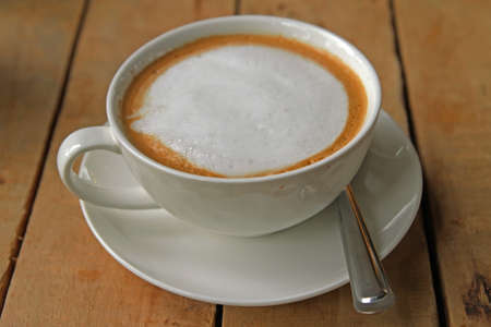Close up shot of coffee cup with Coffee Stock Photo