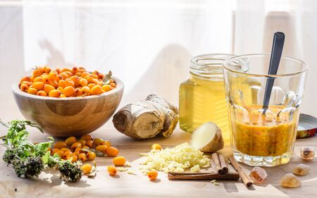 Ingredients for homemade mixture strengthens the immune system. which also is tasty