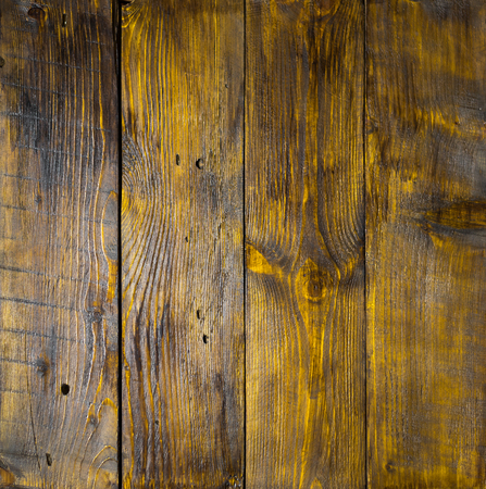notch: Old hazel wood panels with cracks, scratches, swirls, notch and chips. Background with space for text