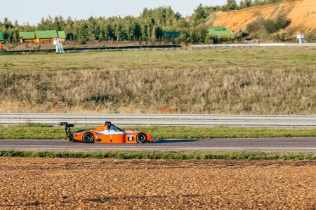 KAZAN, RUSSIA - August 13: No. 8 Ligier JS 51 of DK Racing Team during 4-hour marathon of Russian Endurance Challenge on Augst 13, 2017 at Kazan, Russia.