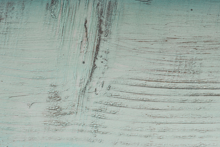 Painted wooden planks with cracks and scratches, background or texture Stock Photo