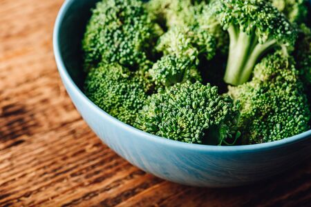 Fresh broccoli in bowl ready to be prepared for a recipe Reklamní fotografie