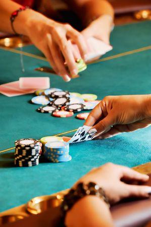dealt: Casino hands 1 Stock Photo
