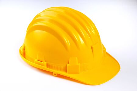 Yellow hard hat on white Stock Photo - 7107397