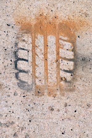 Impression of tire Stock Photo - 7134093