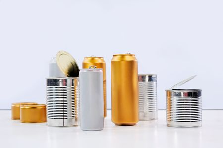 reusing: Metal tins