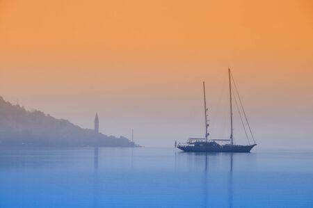 Sailboat in the Mediterranean photo