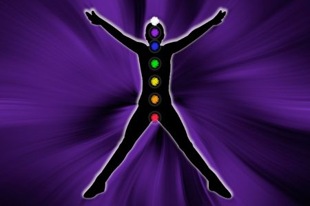 anja: Body chakra Stock Photo