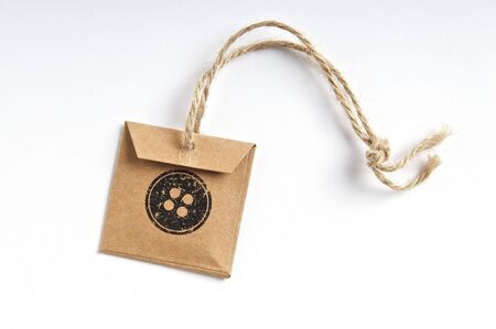 Natural handemade button tag