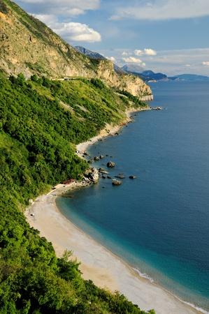 Coastline and the beach  Stock Photo