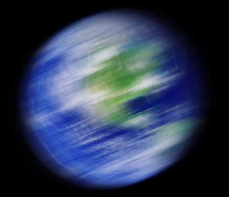 Earth spinning photo