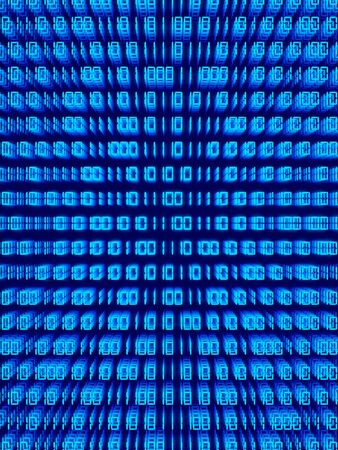 Blue binary code background photo