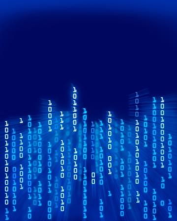 codigo binario: Flujo de datos de código binario