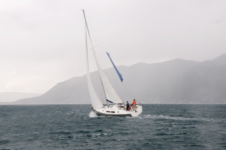sailing yacht: Yacht in the storm