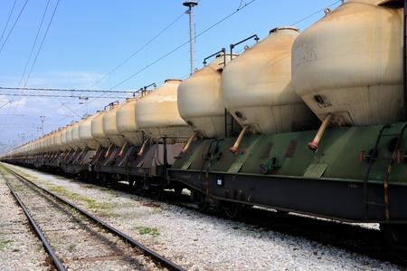alumina: Train transport Stock Photo