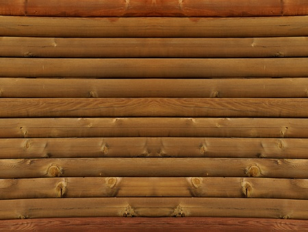 Log cabin wall