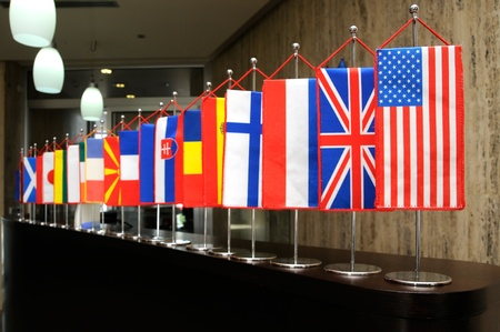 human relations: International flags