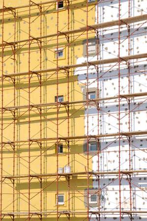 Scaffold on the building photo