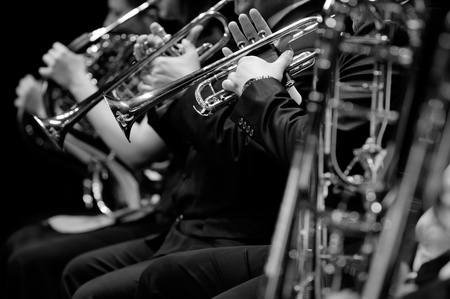 orquesta: Trompeta Foto de archivo