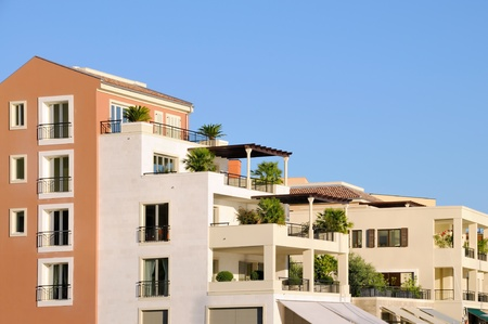 Mediterranean buildings Stock Photo