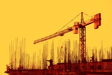 construction crane: Construction