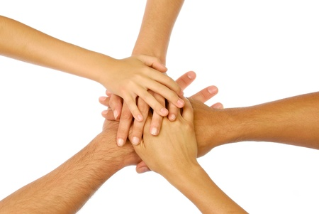 medium group of people: Hands group