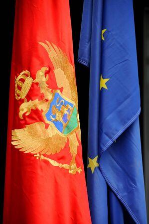 Montenegrin and European flag photo