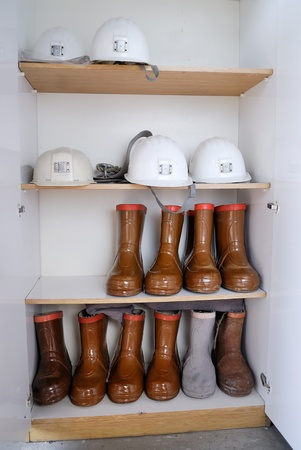 Safety helmets and boots photo