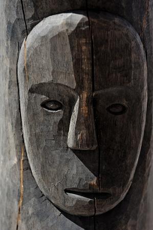 maschera tribale: Legno maschera africana tribale Archivio Fotografico